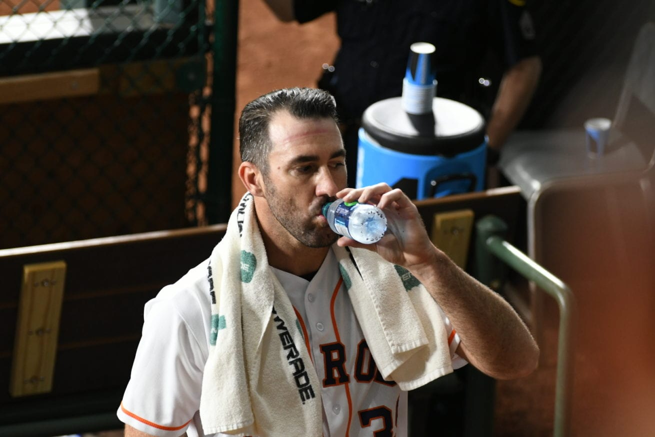 Justin Verlander - a tall drink of water