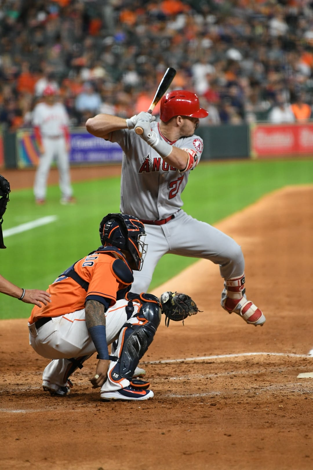 Mike Trout - I usually focus on the Astros whether at bat or on the field but make a few exceptions