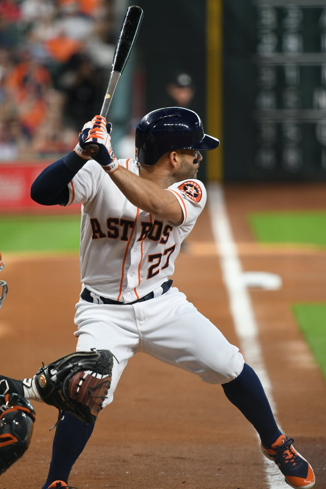 Jose Altuve - about to take a swing