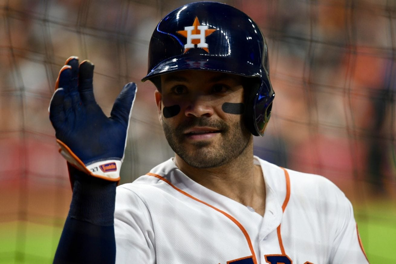 Jose Altuve blowing kisses