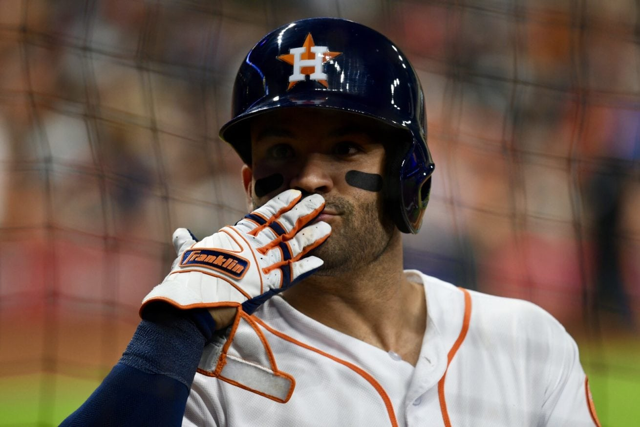 Jose Altuve - Blowing kisses