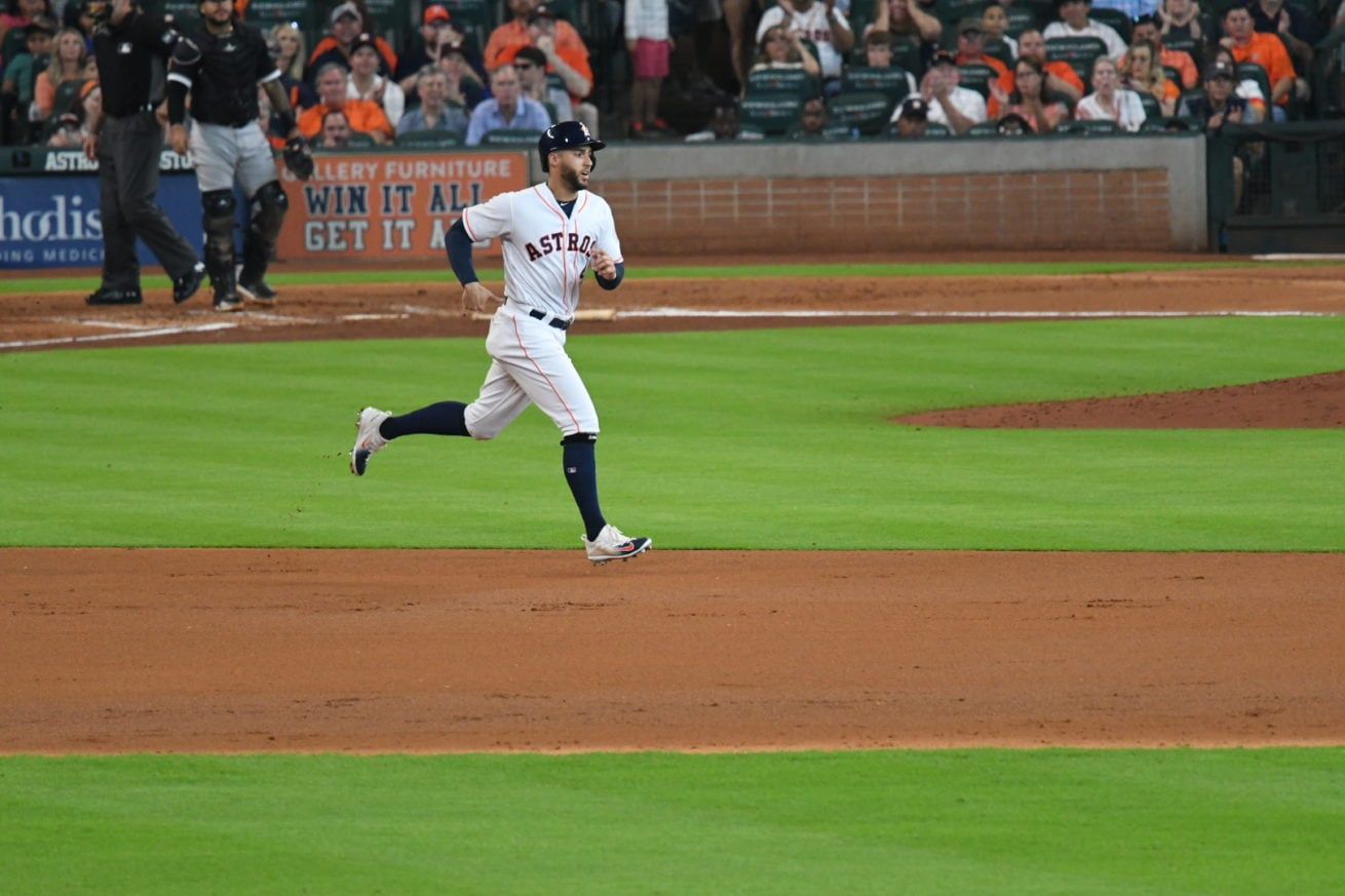 George Springer mid stride