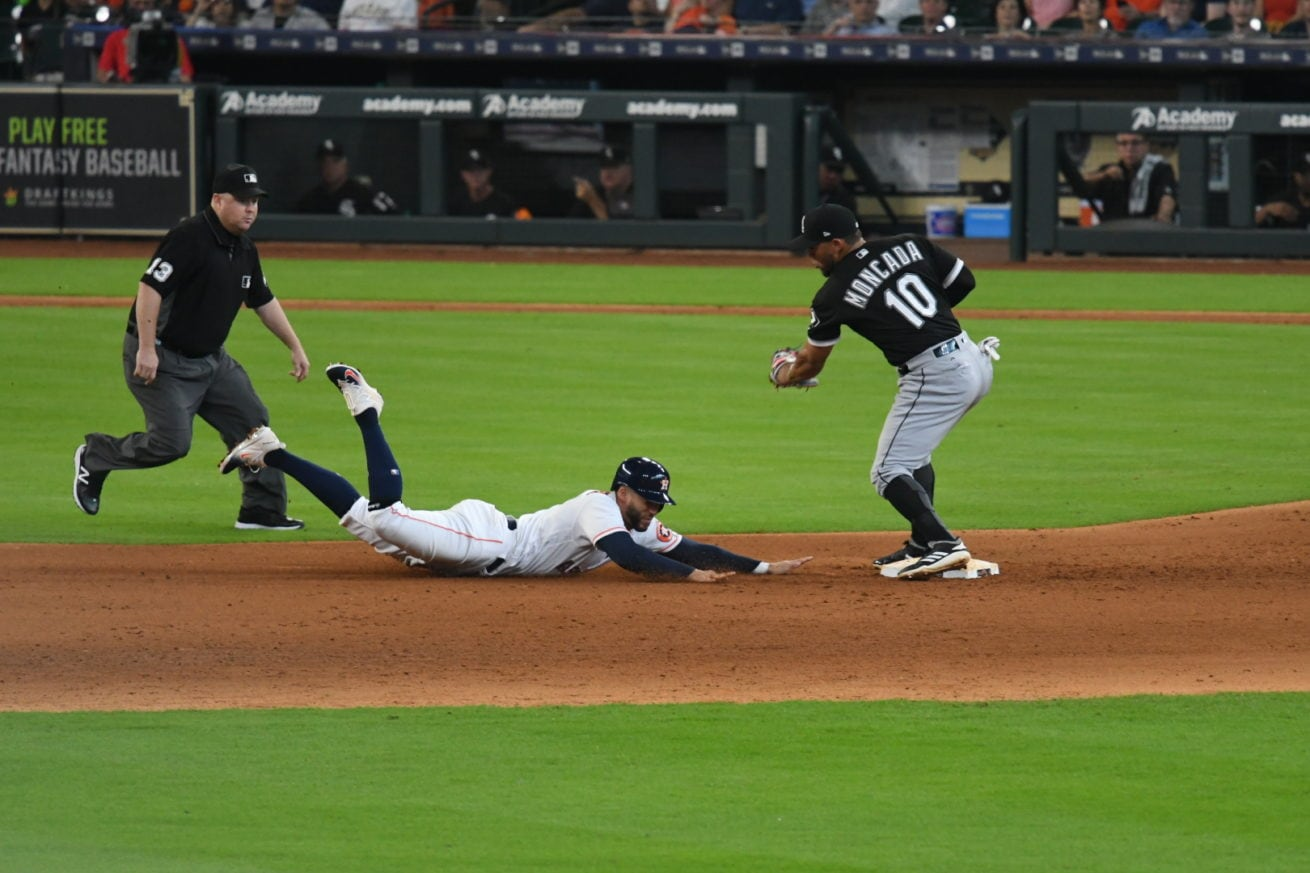 George Springer sliding safe