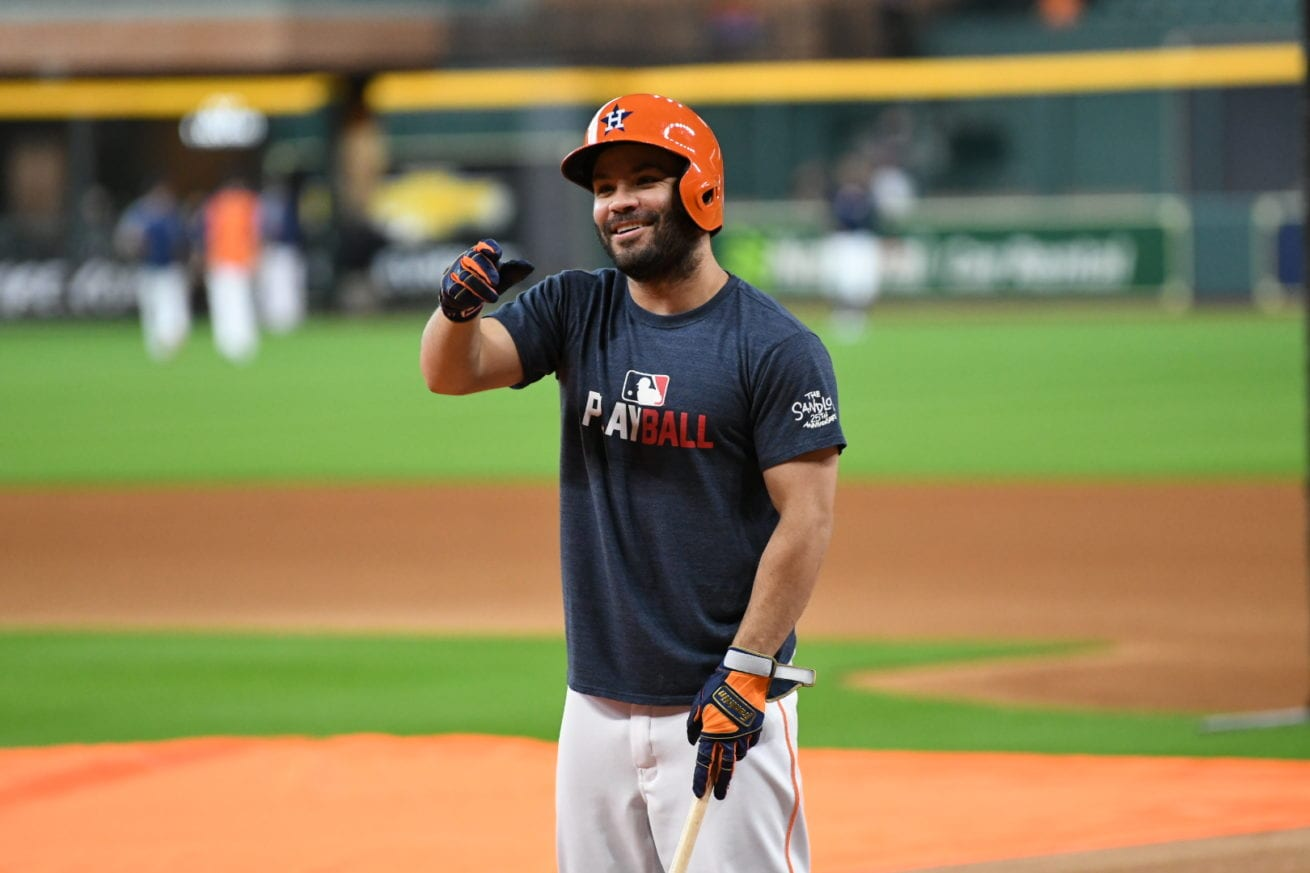 Altuve ever the joker