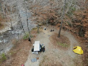 Camping off-grid in Ouachita National Forest